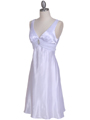 1408 White Charmeuse Cocktail Dress - White, Alt View Thumbnail