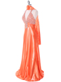 148  Tangerine Halter Rhinestone Evening Dress - Alt. Image