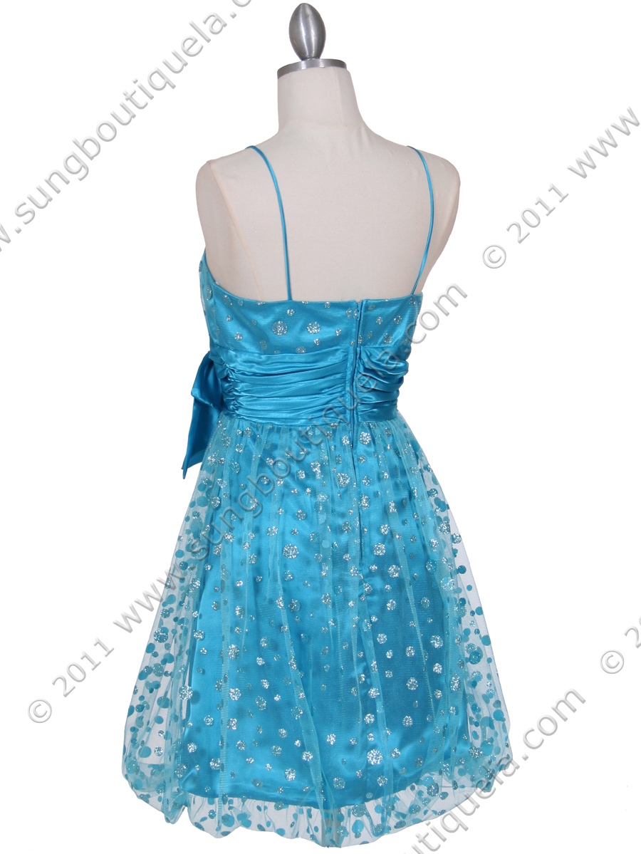 turquoise giltter cocktail dress sung boutique la