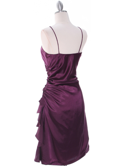 1517 Purple Cocktail Dress - Purple, Back View Medium