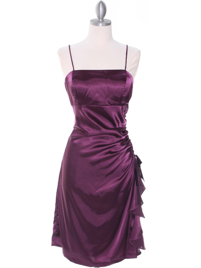 1517 Purple Cocktail Dress - Purple, Front View Medium