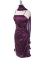 1517 Purple Cocktail Dress - Purple, Alt View Thumbnail