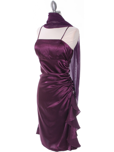 1517 Purple Cocktail Dress - Purple, Alt View Medium