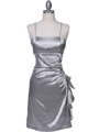 1517 Silver Cocktail Dress - Silver, Front View Thumbnail