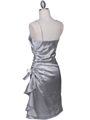 1517 Silver Cocktail Dress - Silver, Back View Thumbnail