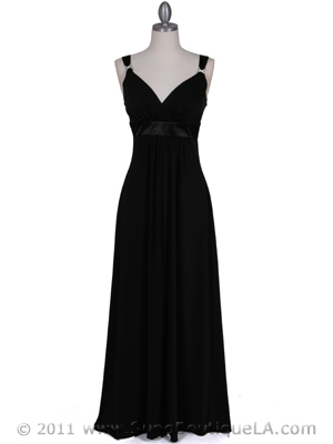 1533 Black Evening Dress, Black
