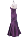 Plum Taffeta Evening Dress - Back Image