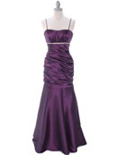 Plum Taffeta Evening Dress