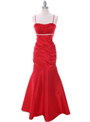 1546 Red Taffeta Evening Dress