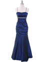 1546 Royal Blue Taffeta Prom Dress - Royal Blue, Front View Thumbnail
