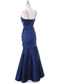 1546 Royal Blue Taffeta Prom Dress - Royal Blue, Back View Thumbnail