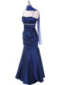 1546 Royal Blue Taffeta Prom Dress - Royal Blue, Alt View Thumbnail