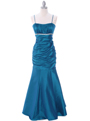 1546 Teal Taffeta Bridesmaid Dress