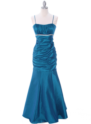 1546 Teal Taffeta Bridesmaid Dress, Teal