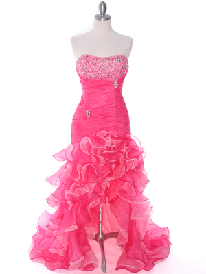 Hot Pink Halter Sweet Heart Evening Dress Ball Gown under $100