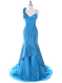 1616 Indigo Taffeta Prom Evening Gown
