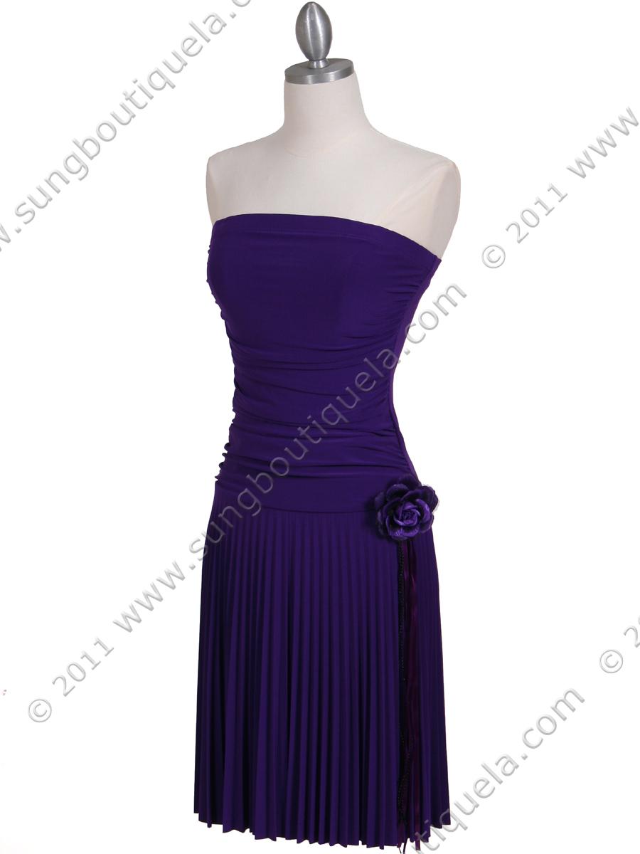 purple strapless prom dress | eBay