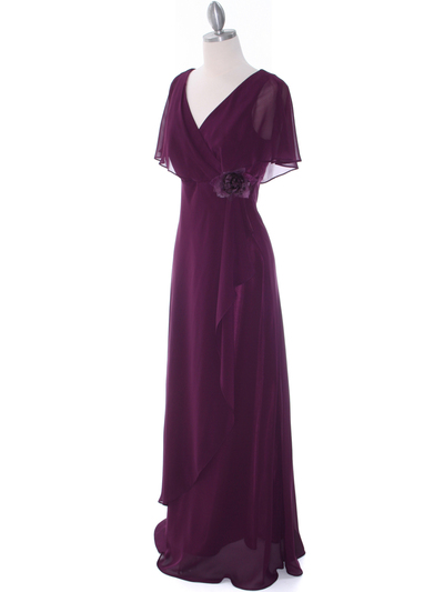 1735 Chiffon Evening Dress - Purple, Alt View Medium