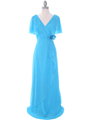 1735 Turquoise Chiffon Evening Dress