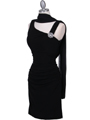1743 Black Cocktail Dress with Rhinestone Pin - Black, Alt View Thumbnail