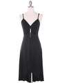 1745 Black Party Dress - Black, Front View Thumbnail
