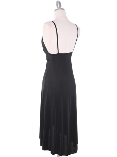 1745 Black Party Dress - Black, Back View Medium
