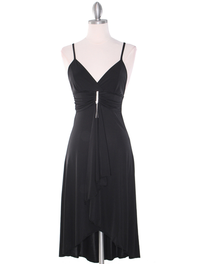 1745 Black Party Dress - Black, Front View Medium