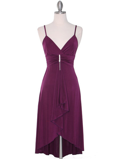 1745 Purple Party Dress - Purple, Front View Medium