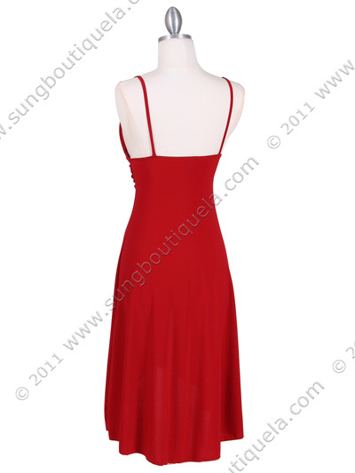 1745 Red Party Dress - Red, Back View Medium