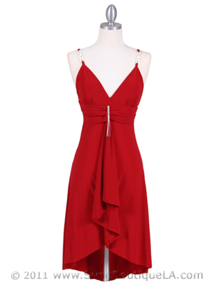 Red Party Dress - Front Image