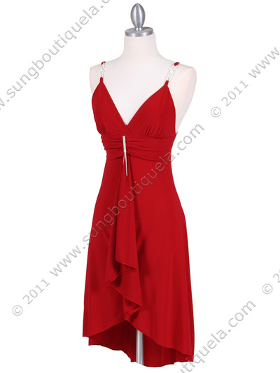 1745 Red Party Dress - Red, Alt View Medium