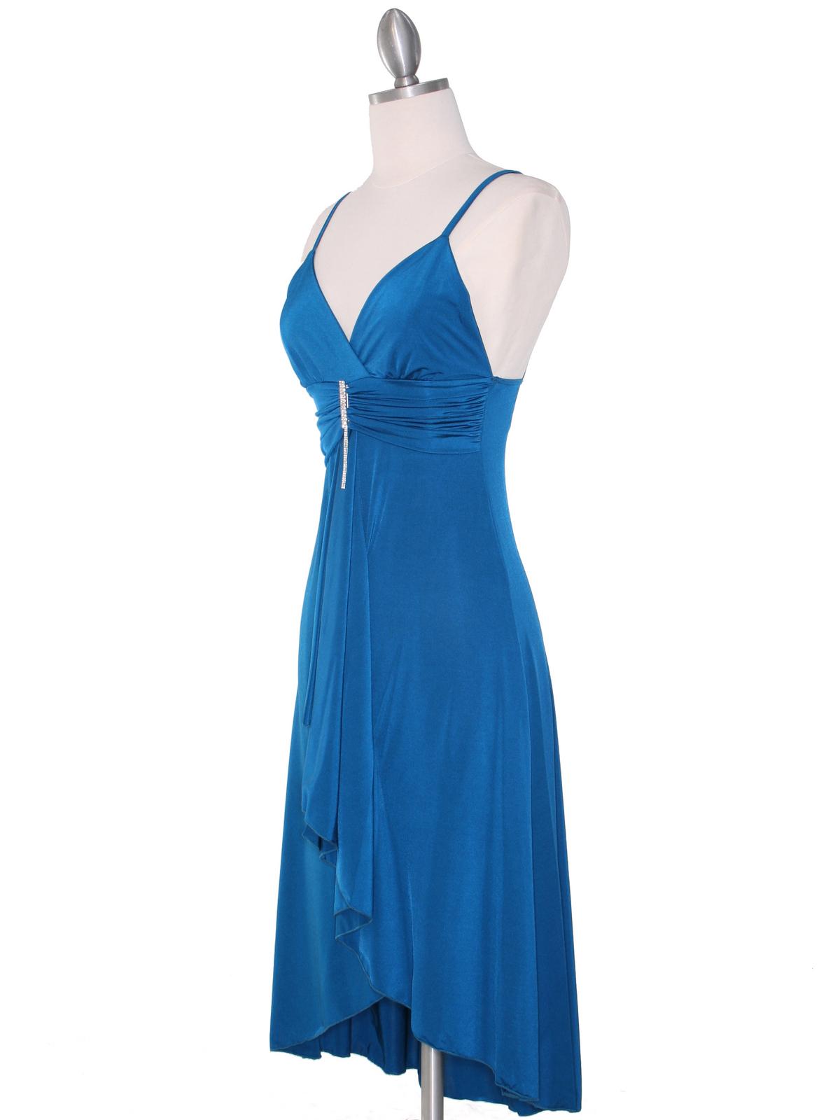 Teal Cocktail Dress Sung Boutique L A