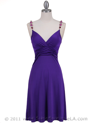 Purple Party Dress - Front Image