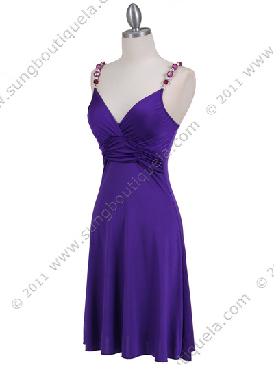1774 Purple Party Dress - Purple, Alt View Medium