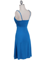 1774  Teal Blue Party Dress - Back Image