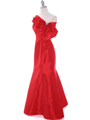 C1811 Red Taffeta Evening Dress with Oversize Bow - Red, Alt View Thumbnail