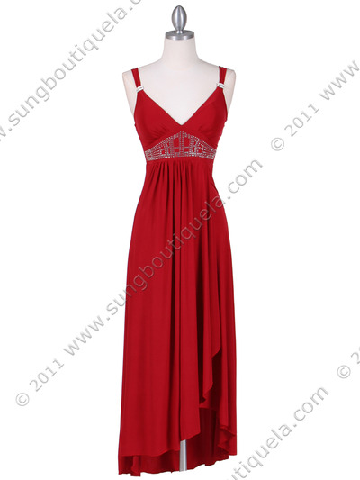 1813 Red Cocktail Dress - Red, Front View Medium