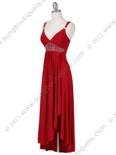 1813 Red Cocktail Dress - Red, Alt View Medium