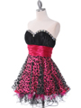 1817 Black and Hot Pink Cocktail Dress - Black Hot Pink, Alt View Thumbnail