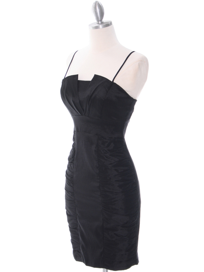 1818 Black Taffeta Cocktail Dress with Bolero - Black, Alt View Medium