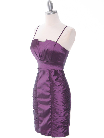 1818 Plum Taffeta Cocktail Dress with Bolero - Plum, Alt View Medium