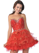 Sweetheart Tiered Short Prom Dress