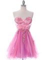 Pink Strapless Homecoming Dress - Front Image