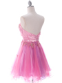 Pink Strapless Homecoming Dress - Back Image