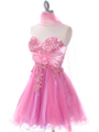Pink Strapless Homecoming Dress - Alt Image
