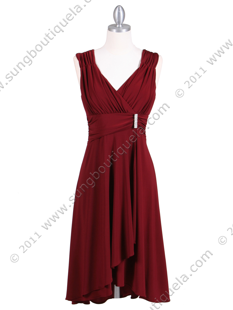 Burgundy Cocktail Dress | Sung Boutique L.A.