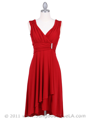 1840 Red Cocktail Dress, Red