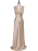 Gold Satin Evening Dress