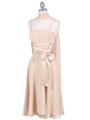Gold Tea Length Dress - Alt Image