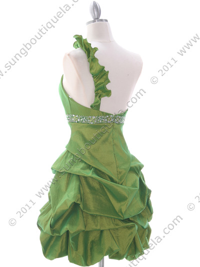 187 Green Homecoming Dress - Green, Back View Medium